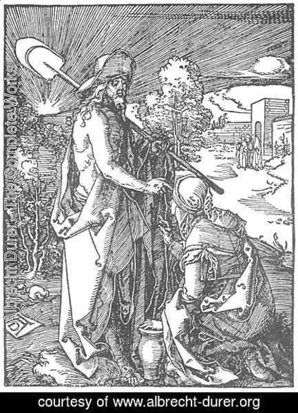 Albrecht Durer - Small Passion, 31. Christ Appears to Mary Magdalene