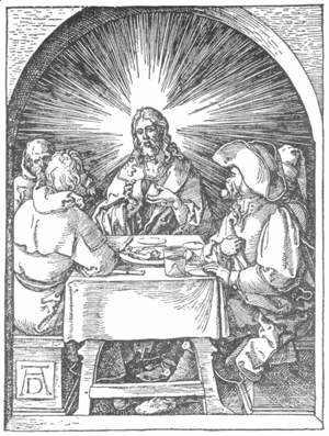 Small Passion, 32. Christ and the Disciples at Emmaus
