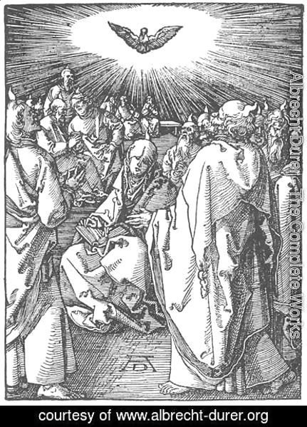 Albrecht Durer - Small Passion, 35. The Descent of the Holy Spirit