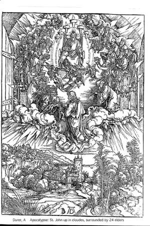 Albrecht Durer - St John In The Clouds