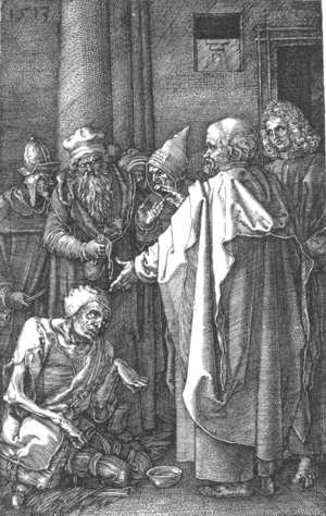 Albrecht Durer - St Peter and St John Healing the Cripple (No. 16)