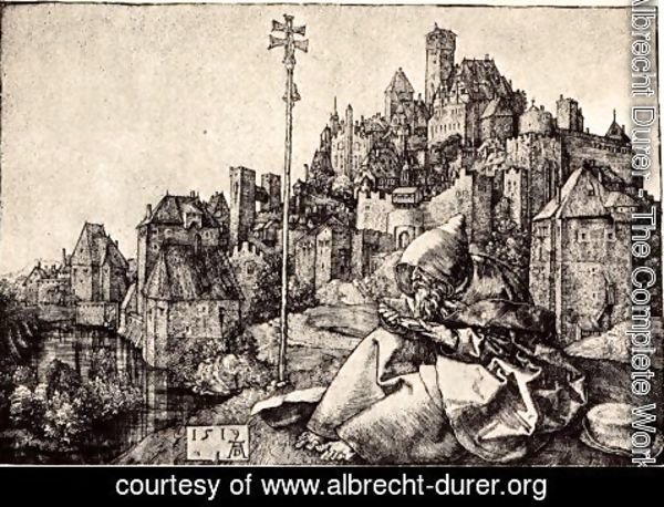 Albrecht Durer - St. Anthony At the City