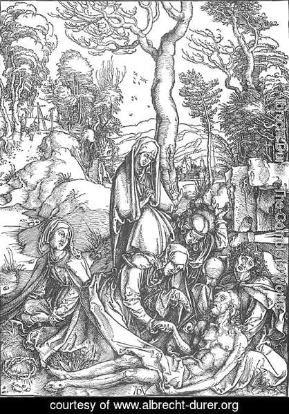 Albrecht Durer - The Large Passion, 07. The Lamentation for Christ
