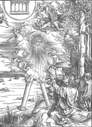 Albrecht Durer - The Revelation of St John, 09. St John Devours the Book