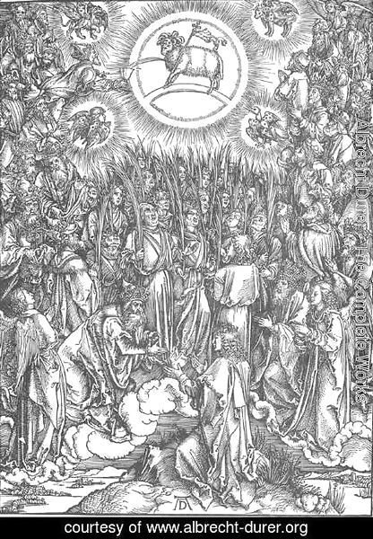Albrecht Durer - The Revelation of St John, 13. The Adoration of the Lamb and the Hymn of the Chosen