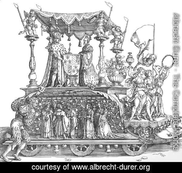 Albrecht Durer - The Small Triumphal Car or the Burgundian Marriage 2
