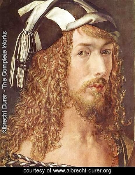 Albrecht Durer - Self-Portrait at 26 (detail)
