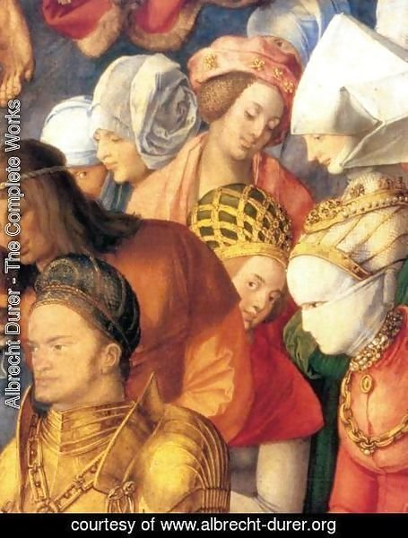 Albrecht Durer - The Adoration of the Trinity (detail 4)