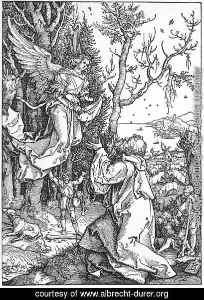 Albrecht Durer - Life of the Virgin 2. The Angel Appering to Joachim