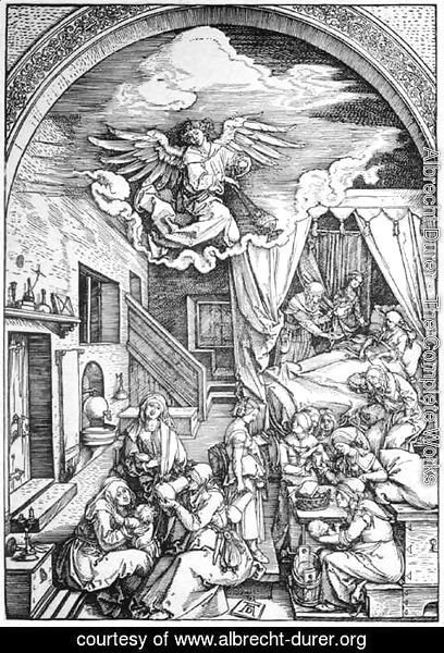 Albrecht Durer - Life of the Virgin 4. The Birth of the Virgin