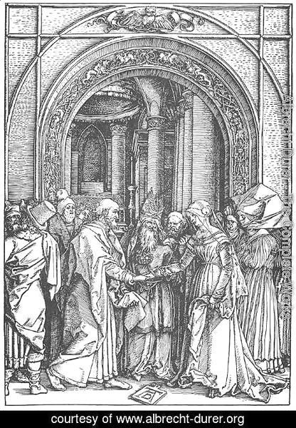 Albrecht Durer - Life of the Virgin 6. Marriage of the Virgin