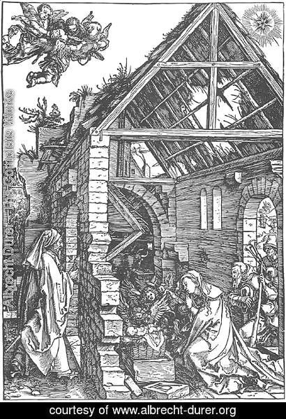 Albrecht Durer - Life of the Virgin 9. The Adoration of the Shepherds. (The Nativity)