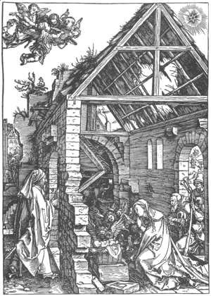 Life of the Virgin 9. The Adoration of the Shepherds. (The Nativity)