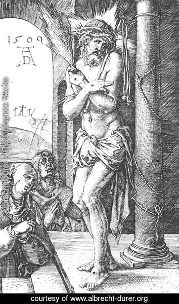 Albrecht Durer - Man of Sorrows by the Column (No. 1)