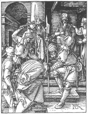 Albrecht Durer - Small Passion 12. Christ before Annas