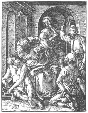 Albrecht Durer - Small Passion 14. The Mocking of Christ