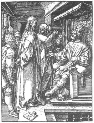 Albrecht Durer - Small Passion 16. Christ before Herod