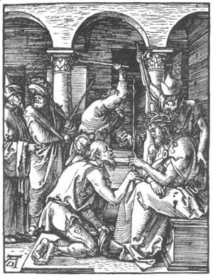 Albrecht Durer - Small Passion 18. Christ Being Crowned with Thorns