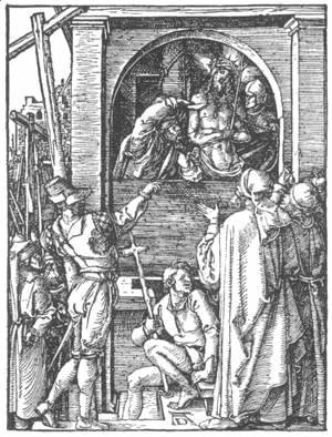 Albrecht Durer - Small Passion 19. Christ Shown to the People