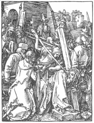 Albrecht Durer - Small Passion 21. Christ Bearing the Cross