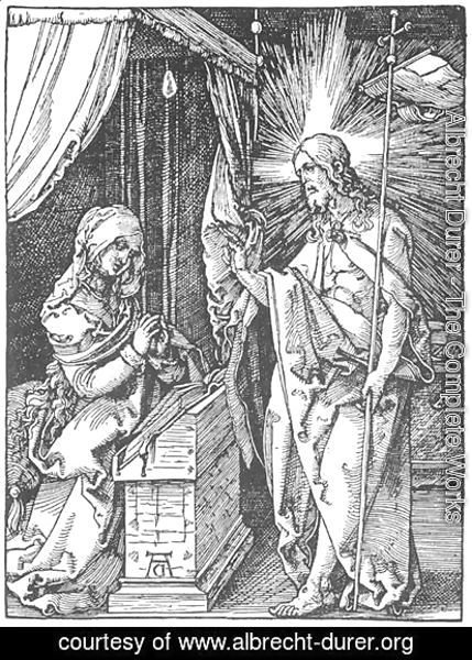Albrecht Durer - Small Passion 30. Christ Appears to His Mother