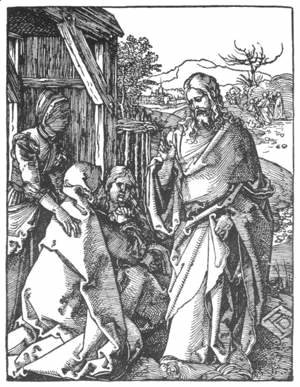 Albrecht Durer - Small Passion 5. Christ Taking Leave of His Mother