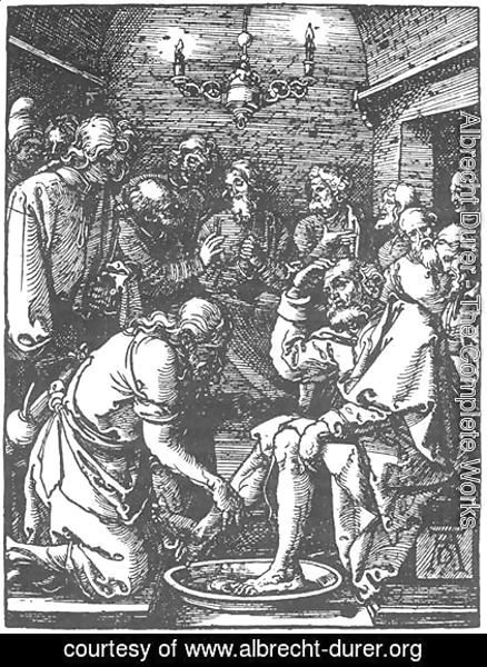 Albrecht Durer - Small Passion 9. Christ Washing Peter's Feet