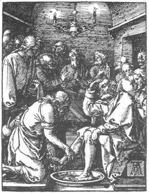 Small Passion 9. Christ Washing Peter's Feet