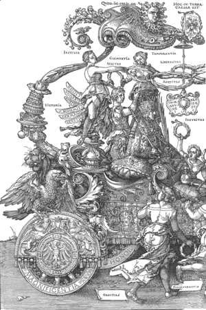 Albrecht Durer - The Great Triumphal Car