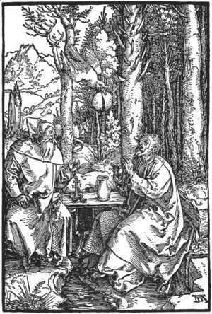 Albrecht Durer - The Hermits St Anthony and St Paul