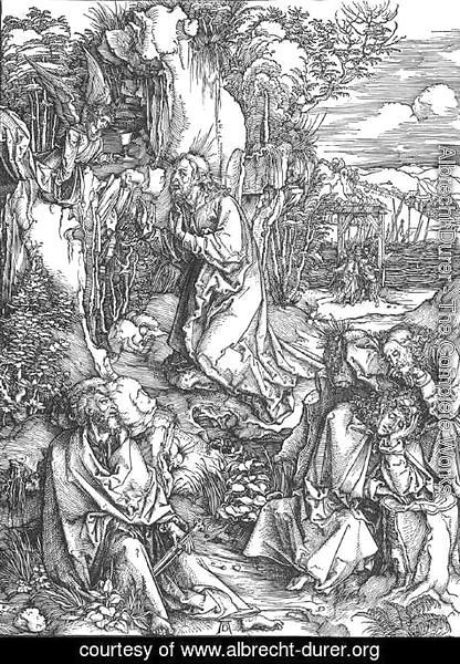Albrecht Durer - The Large Passion 2. Christ on the Mount of Olives