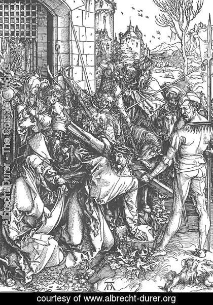 Albrecht Durer - The Large Passion 5. Christ Bearing the Cross