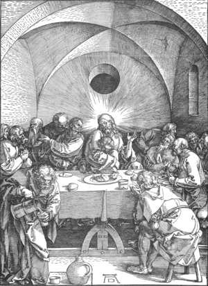 Albrecht Durer - The Large Passion 9. Last Supper