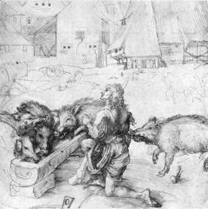 Albrecht Durer - The Prodigal Son among the Swine