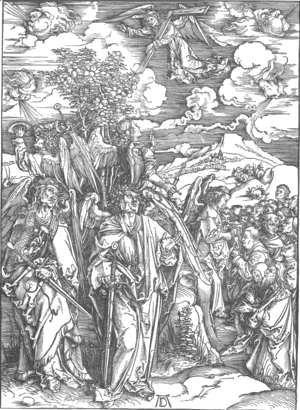 Albrecht Durer - The Revelation of St John 6. Four Angels Staying the Winds and Signing the Chosen