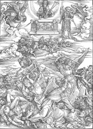 Albrecht Durer - The Revelation of St John 8. The Battle of the Angels