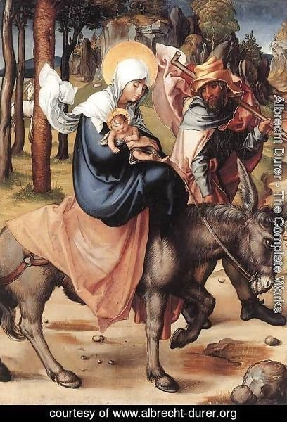 Albrecht Durer - The Seven Sorrows of the Virgin The Flight into Egypt
