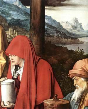 Albrecht Durer - Lamentation for Christ (detail) 2