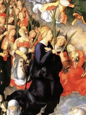The Adoration of the Trinity (detail)