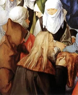 Albrecht Durer - The Adoration of the Trinity (detail) 2