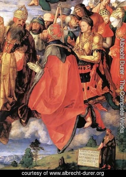 Albrecht Durer - The Adoration of the Trinity (detail) 3