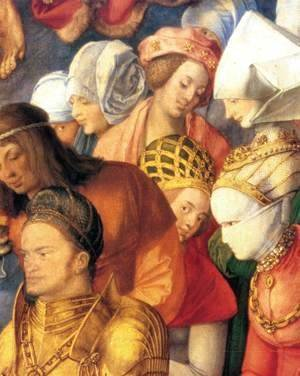 Albrecht Durer - The Adoration of the Trinity (detail) 4