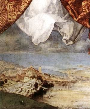 Albrecht Durer - The Adoration of the Trinity (detail) 5