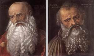 Albrecht Durer - The Apostles Philip and James 2