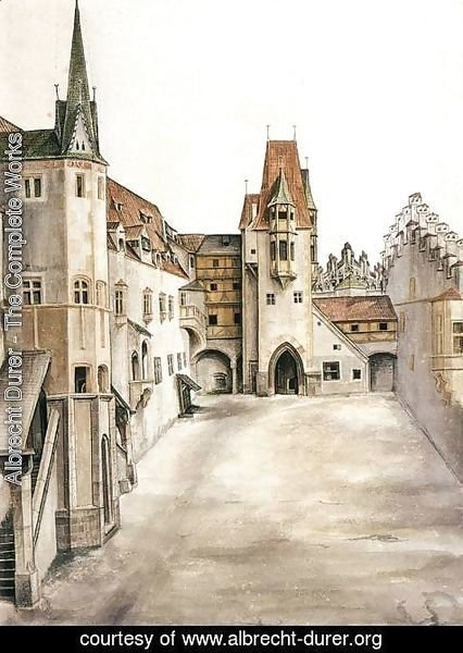 Albrecht Durer - Courtyard of the Former Castle in Innsbruck without Clouds