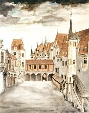 Albrecht Durer - Courtyard of the Former Castle in Innsbruck with Clouds