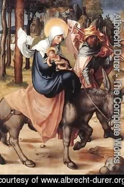 The Seven Sorrows Of The Virgin The Flight Into Egypt 1496 X