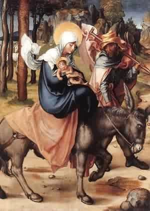 Albrecht Durer - The Seven Sorrows Of The Virgin The Flight Into Egypt 1496 X