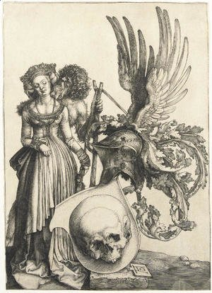 Albrecht Durer - A Coat of Arms with a Skull