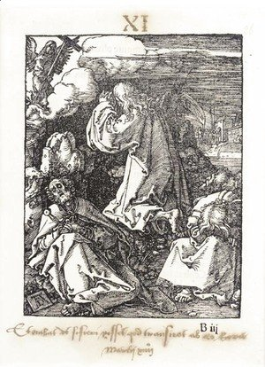 Albrecht Durer - Christ on the Mount of Olives, from The small Passion